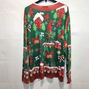 HQUE Shirts - HUQE Ugly Christmas Santa Gingerbread Shirt 2XL